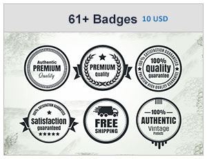61+ Vintage Badges Bundle