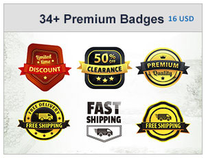 34+ Premium Badges Bundle