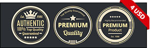 Chocolate Premium Authentic Badges
