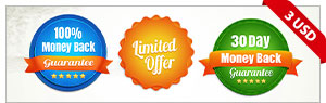 Set Of Colorful Clearance Discount Badges