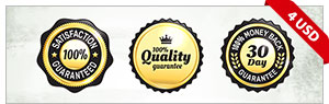 9 Gold And Silver Quality Guarantee Badges
