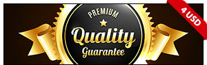 Golden And Silver Premium Quality Badges